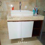 kabinet wastafel murah design custom by Portu Interior