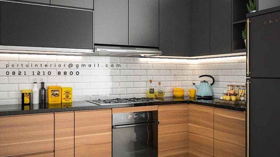 kitchen set tangerang custom Portu Interior