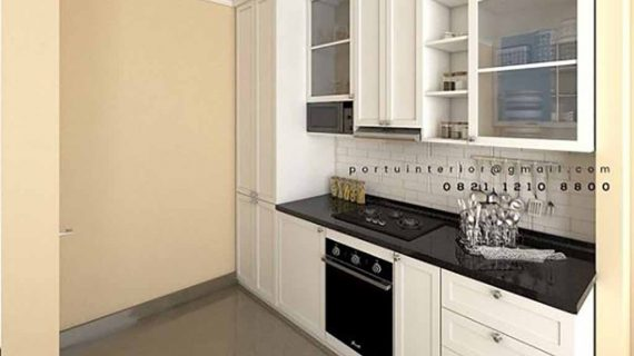contoh kitchen set di jakarta desain semi klasik