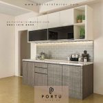 contoh kitchen set minimalis modern terbaru