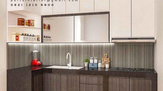 design kitchen set minimalis kombinasi warna