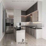 gambar kitchen set design minimalis modern dengan island