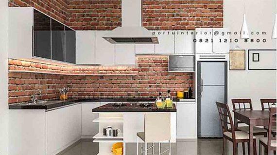 kitchen set model terbaru dengan meja island