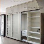 Model lemari sliding kaca minimalis modern