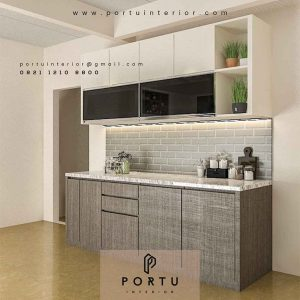 bahan kitchen set hpl minimalis modern by Portu Interior