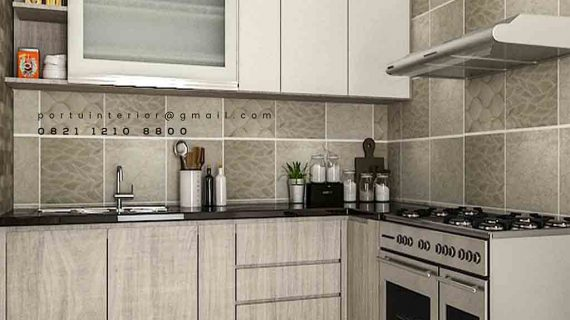 contoh kitchen set hpl model minimalis modern