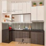 design kitchen set minimalis kombinasi warna
