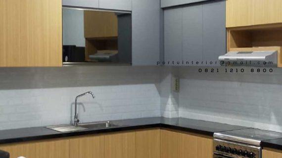 design kitchen set minimalis finishing hpl kombinasi warna id4181