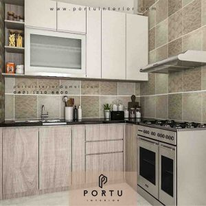 harga kitchen set sederhana per meter Portu Interior