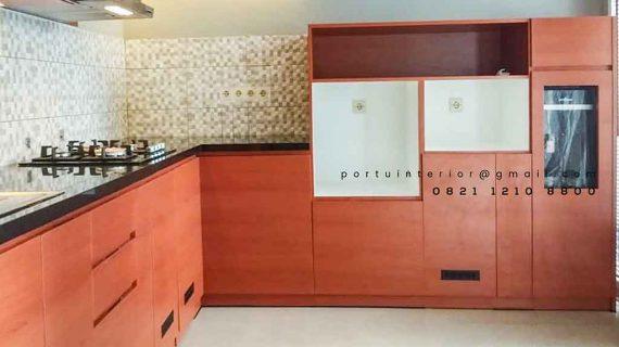 model kitchen set minimalis murah letter L finishing hpl id3941
