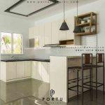 Kitchen Set Klasik Putih di Bintaro Jakarta Selatan Gavin by Portu id2524