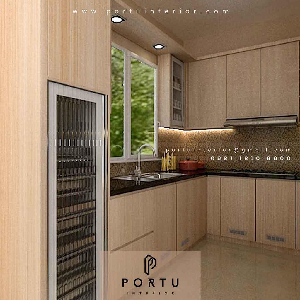 Konsultasi Pembuatan Kitchen Set Minimalis Modern Baranangsiang Indah Bogor Gratis Portu Interior