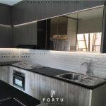 Pembuatan Kitchen Set Minimalis Terbaru Bentuk L Di Grand Wisata Tambun Bekasi