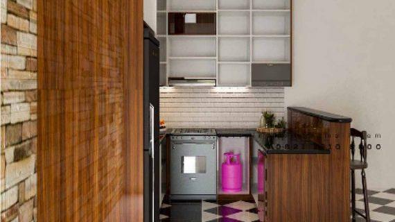 Project Terbaru Design Kitchen Set Minimalis Coklat Mengkilap Tebet Barat Jakarta Selatan