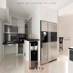 Jasa Pembuatan Kitchen Set Minimalis HPL Putih Di Pejaten Barat Jakarta Selatan Portu Interior