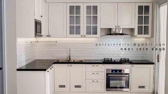 gambar kitchen set duco putih semi glossy