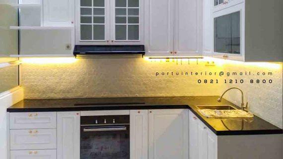 kitchen set klasik finishing duco model letter L