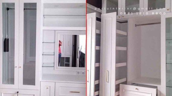 desain lemari pakaian pintu swing custom Portu Interior
