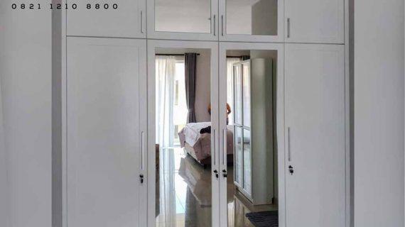 model lemari baju pintu swing kombinasi cermin