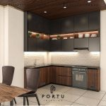 Ide Buat Kitchen Set Dengan Kombinasi Warna Finishing