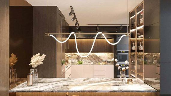 Kitchen set dengan minibar modern & mewah