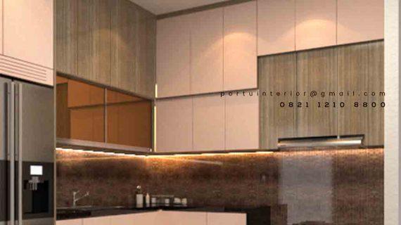Model Kitchen Set Minimalis Modern Kombinasi Warna Hpl Di Alam Sutera Tangerang