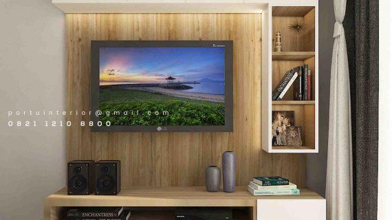 Pasang Backdrop Tv Mewah Kombinasi Warna Perumahan Paramount Gading Serpong