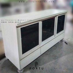 credenza tv ruang keluarga custom