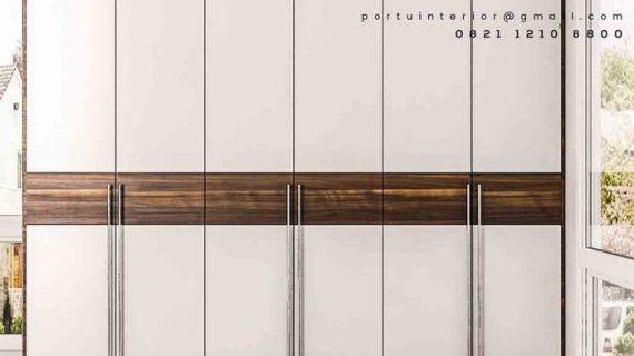 design lemari pakaian minimali pintu swing