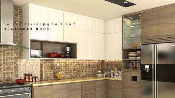 Contoh Kitchen Set HPL Cantik Harga Ekonomis