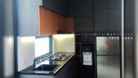Contoh Kitchen Set Warna Dark Grey