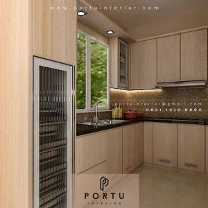 Gambar kitchen set minimalis di ciputat tangerang