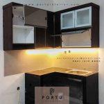 Kitchen set Model Minimalis Letter L Perumahan Villa Ilhami Cibodas