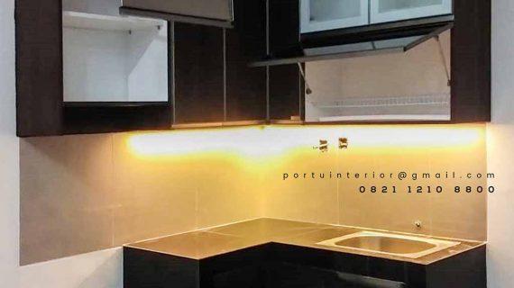 Kitchen set Model Minimalis Letter L Perumahan Villa Ilhami Cibodas id3659p
