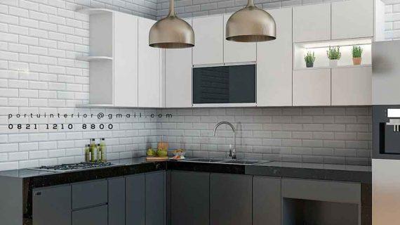 Kitchen set minimalis leller L custom