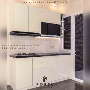 Kitchen set minimalis single line by portu interior