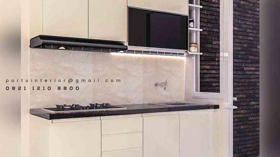 Kitchen set minimalis single line by portu interior
