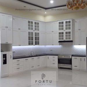 Buat Kitchen Set Warna Putih Kampung Parung Cikasungka Solear Tangerang Banten ID4991P