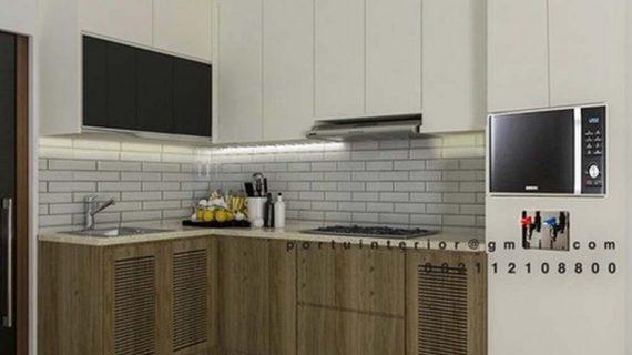Buat kitchen Set Kombinasi Finishing Perumahan Sarua Permai Pamulang