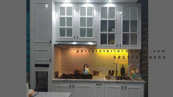 Custom Kitchen Set Warna Putih American Style Cluster The Lakewood Citragran Cibubur Jatisampurna Id4451P