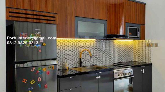 Jual Kitchen Set Motif Kayu & Warna Grey Perumahan Sarua Permai Pamulang Id4832P1