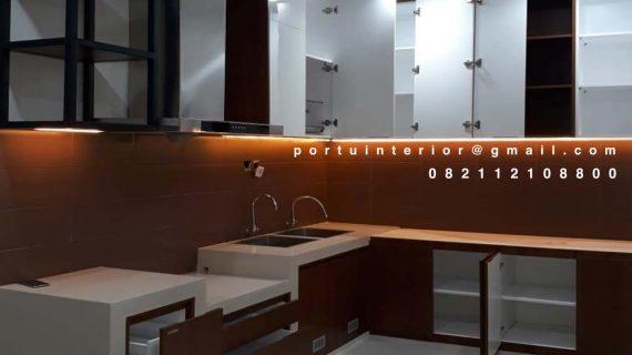 Kitchen Set Motif Kayu Perumahan Taman Alfa Indah Joglo Kembangan Jakarta barat id4641P