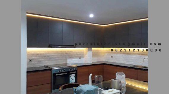 Kitchen Set Motif Kayu & Warna Grey Jelambar Grogol Petamburan Id4727P