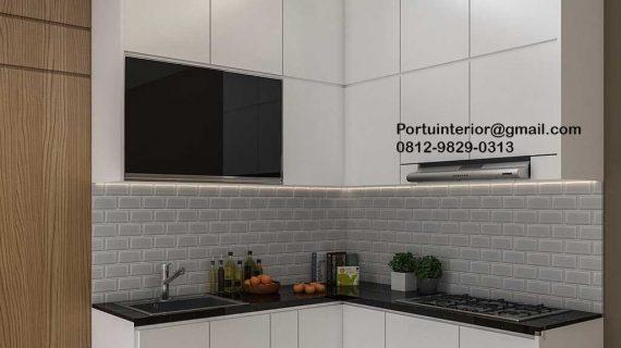 Kitchen Set Putih Perumahan Villa Rizki Ilhami Kelapa Dua Tangerang Id4823