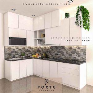 Kitchen Set Warna Putih Populer Banget