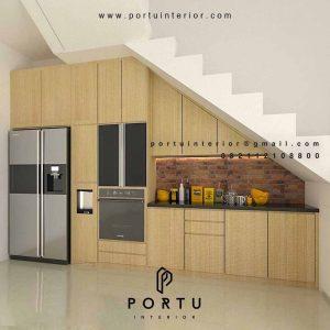 harga kitchen set minimalis bawah tangga