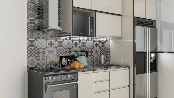 Buat Kitchen Set Warna Putih Klien Perumahan Discovery Serenity Pondok Aren Tangerang
