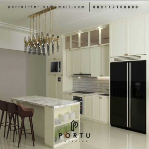 Kitchen set cibubur desing semi klasik finishing cat duco ID4479