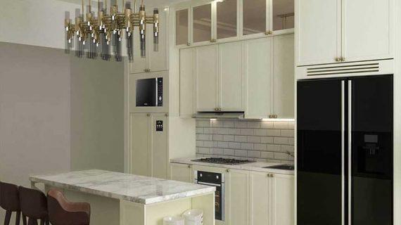 Kitchen set cibubur desing semi klasik finishing cat duco ID4479