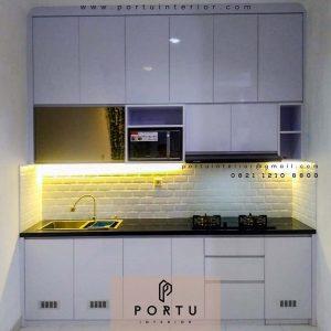 Bikin Kitchen Set Warna Putih Sukabumi Utara kebon Jeruk Jakarta id4278P